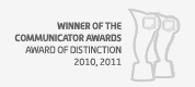 Communicator Awards Interactive Distinction